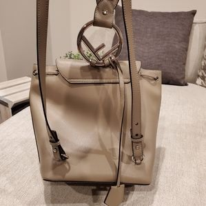 Fendi Bags - Almost new Fendi leather backpack taupe